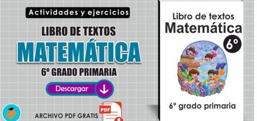 Libro de textos Matemáticas 6º