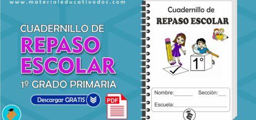 Cuadernillo de repaso escolar 1º