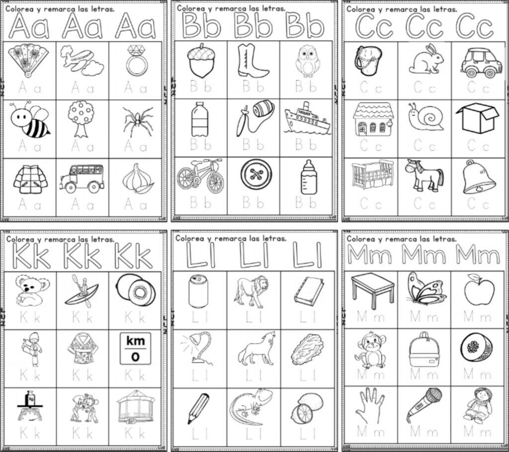 trazos abecedario