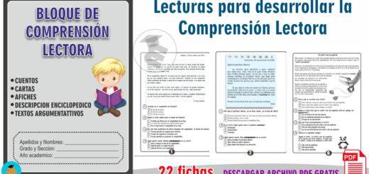 Lecturas para desarrollar la Comprensión