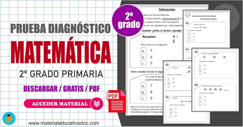 Prueba diagnóstico de Matemática