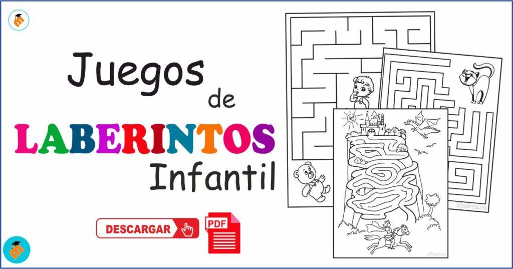 Fichas de juegos laberintos infantil