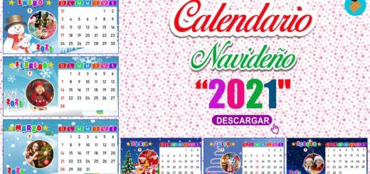 Calendario navideño 2021 por meses