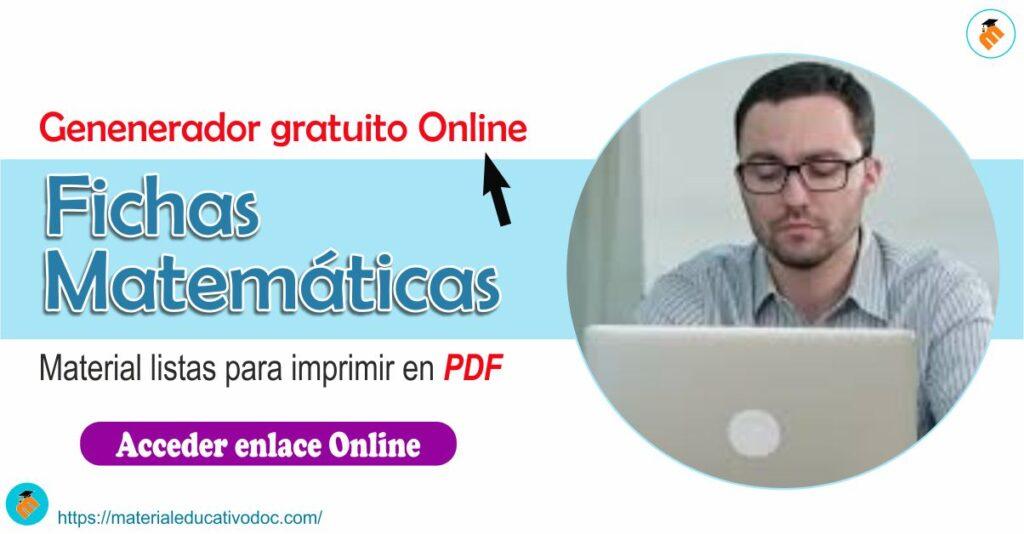 Generador Online de fichas matemáticas