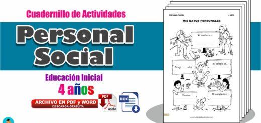 Cuadernillo Personal Social 4 años