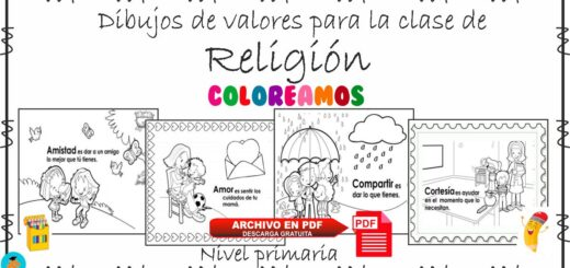 Dibujos de valores para colorear