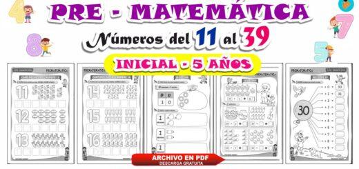 Cuaderno de Matemática 5 años