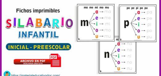 Fichas de Silabario Infantil Inicial