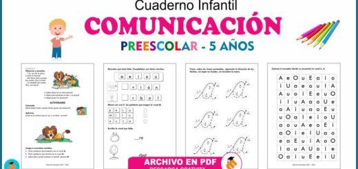 Cuaderno de comunicación preescolar 5
