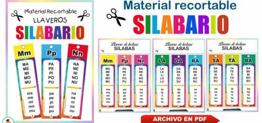 Diseño de llaveros del silabario