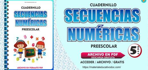 Cuadernillo Secuencias Numéricas para Preescolar