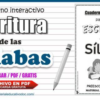 Cuaderno de trabajo de sílabas