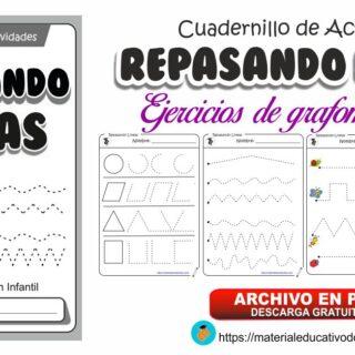 Cuadernillo de trazos REPASANDO LINEAS